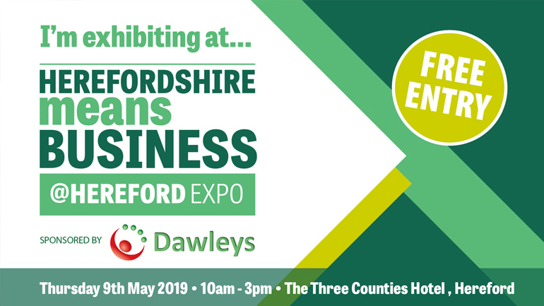 We're exhibiting at HEREFORDSHIRE MEANS BUSINESS EXPO