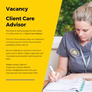 Vacancy Client Care Advisor