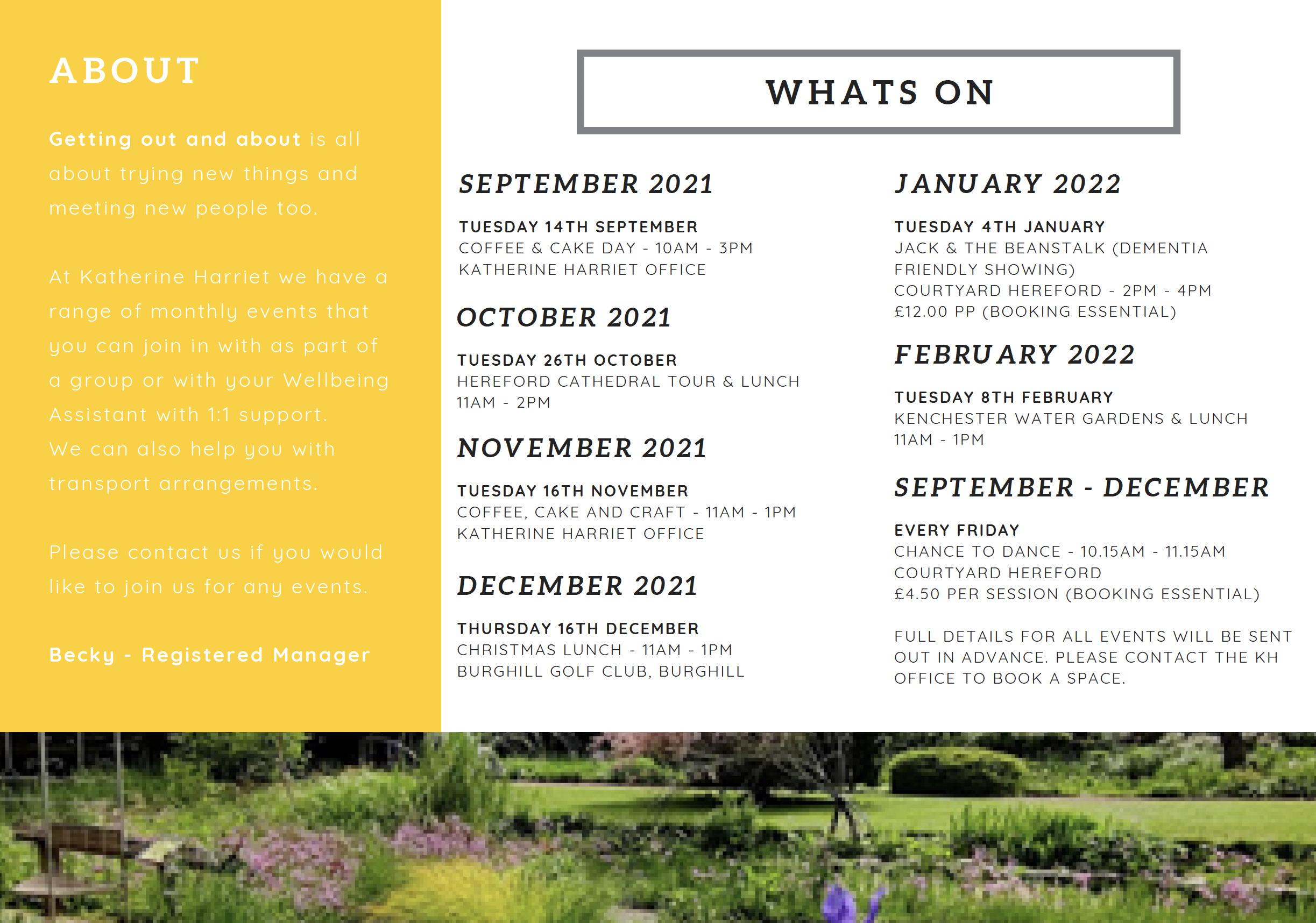 Whats on Autumn 2021